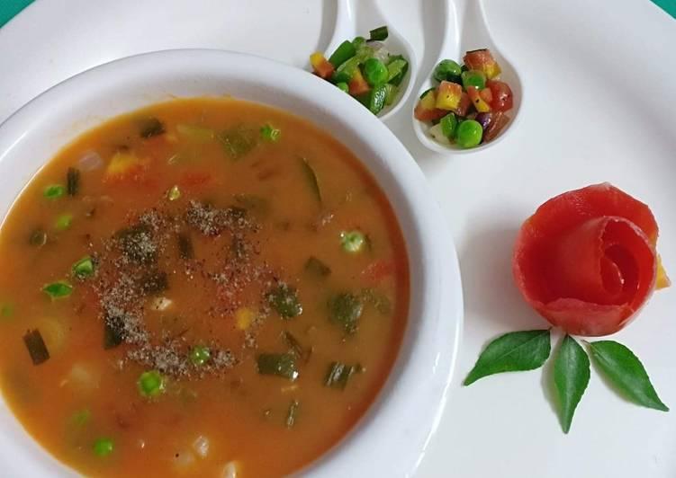 Mix vegetables tomato soup