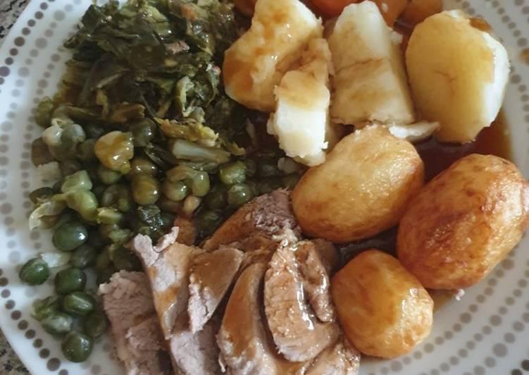 Step-by-Step Guide to Make Speedy Granny's Sunday (Roast Lamb) dinner