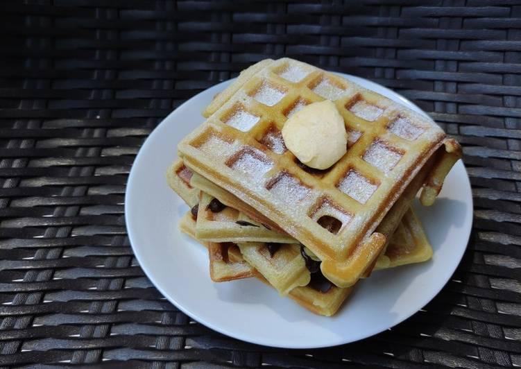 Cara mudah membuat Keto waffle flourless