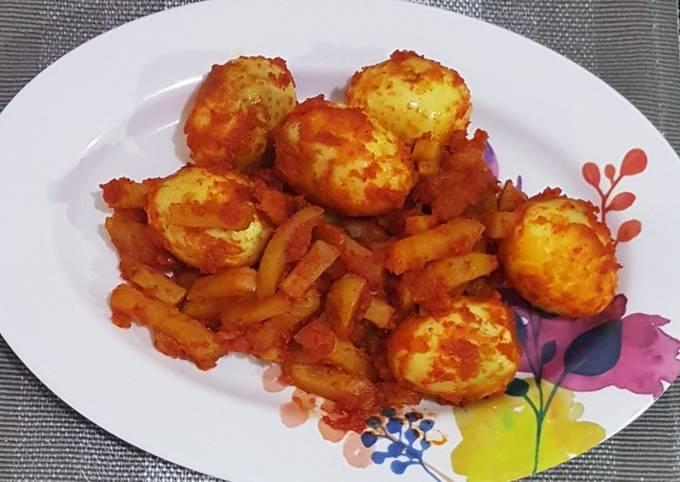 Balado telur kentang