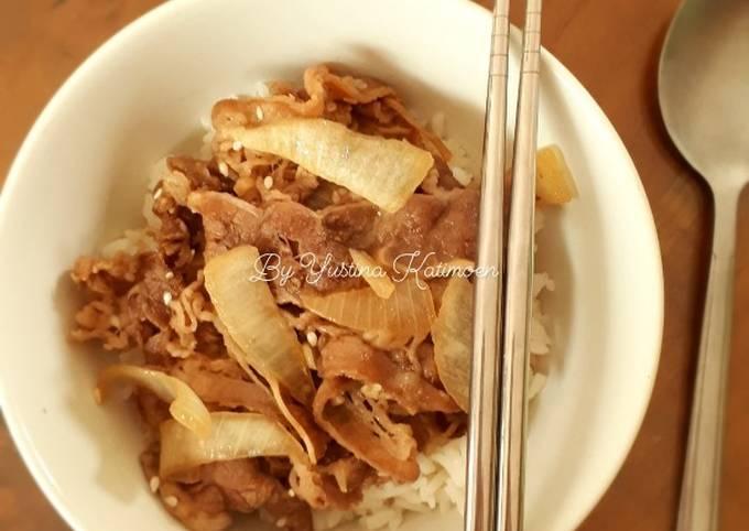 Beef Bowl Gyudon Original ala Yoshinoya