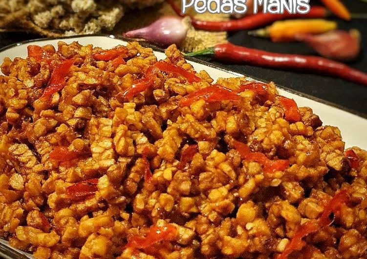 Easiest Way To Cook Tasty 158 Kering Tempe Pedas Manis