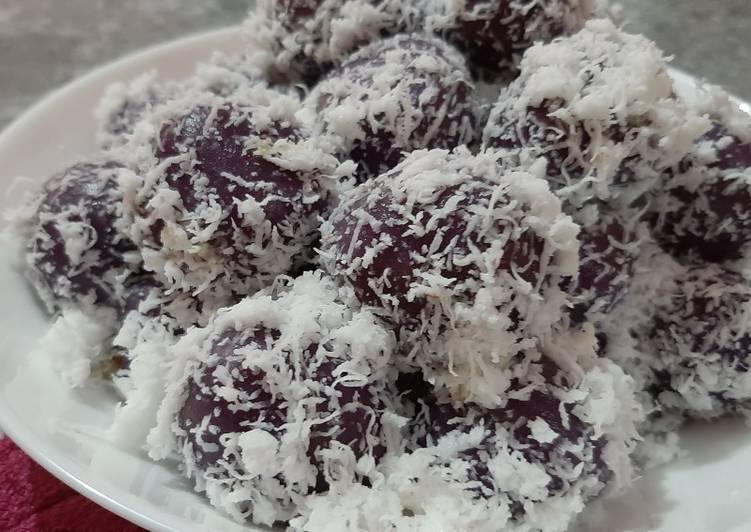 Klepon ubi ungu - cookandrecipe.com