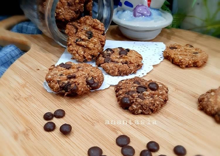Resep Oat Chocochips Cookies, Enak