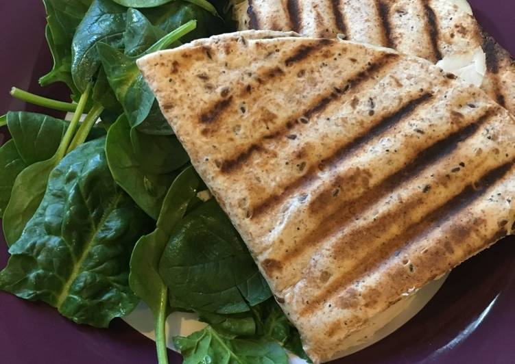 Flatbread panini with turkey and cheddar