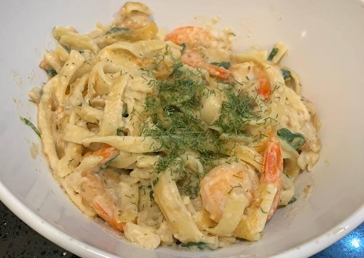 Recipe of Speedy Shrimp Alfredo