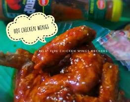 """Hot chicken wings (ala"""" fire chicken wings rechees)"""