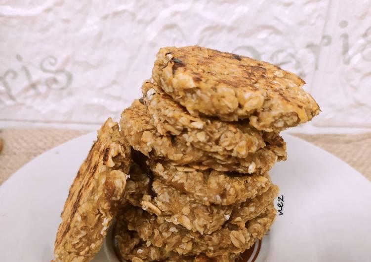 Banana Oat Cookis (tanpa oven)