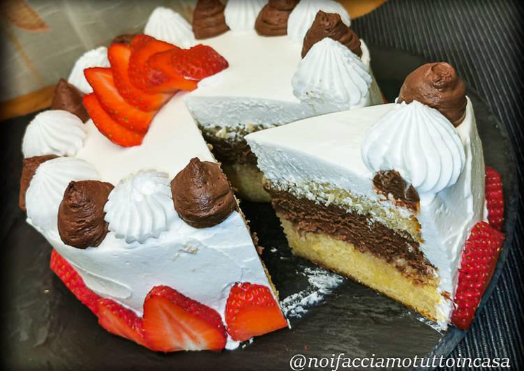 Torta Pan di Spagna (senza glutine) e Mousse al Cioccolato Fondente