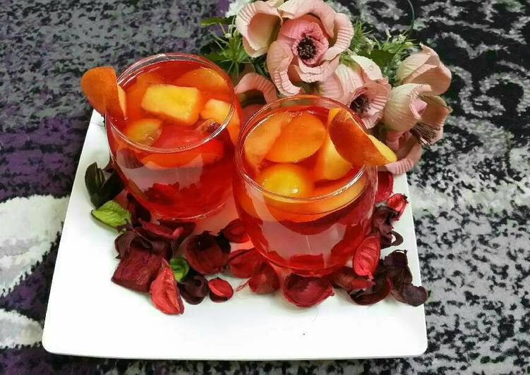 Rose Peach Lemonade...#Cocktails/Mocktails.