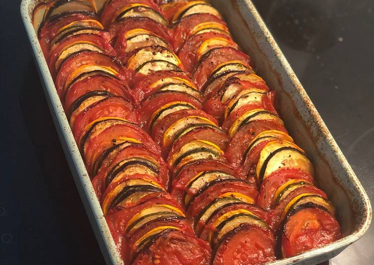 Simple Way to Make Quick Easy but fancy looking Ratatouille 🐀 🍆 🍅