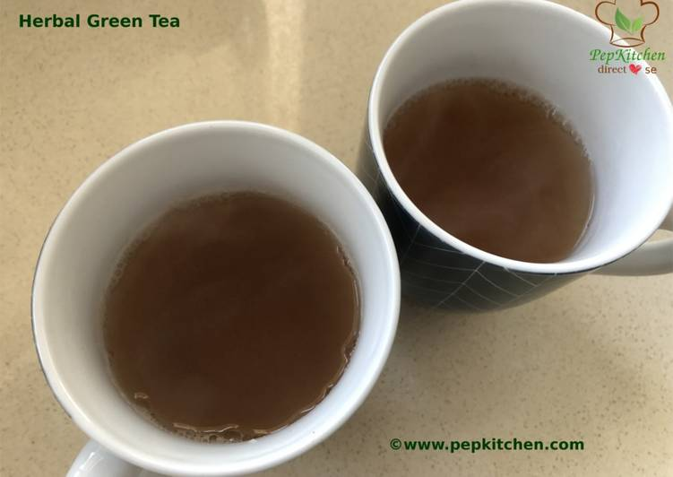 Recipe of Super Quick Homemade Herbal Green Tea