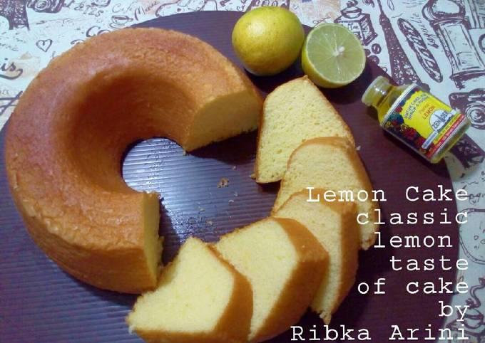 Lemon Cake Rasa Classic Lembut Ringan Uenaak irit, Bolu No bp/sp