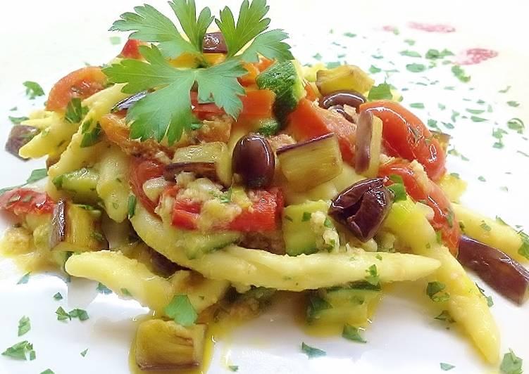 Ricetta Filei calabresi con crema di salmone affumicato e verdure