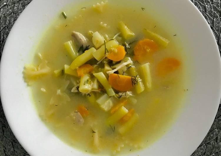 Zupa z fasolką szparagową i makaronem główne zdjęcie przepisu