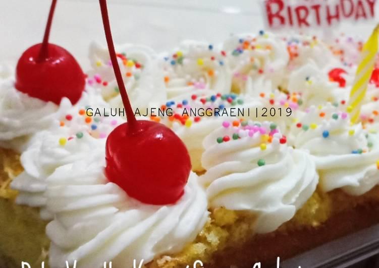 resep buat Bolu Vanilla Keju Panggang (Spons Cake) - Sajian Dapur Bunda