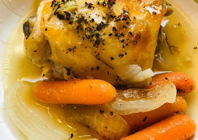Garlicky Herb Baked Chicken Thighs, Heart Friendly Foods You Need To Be Eating
