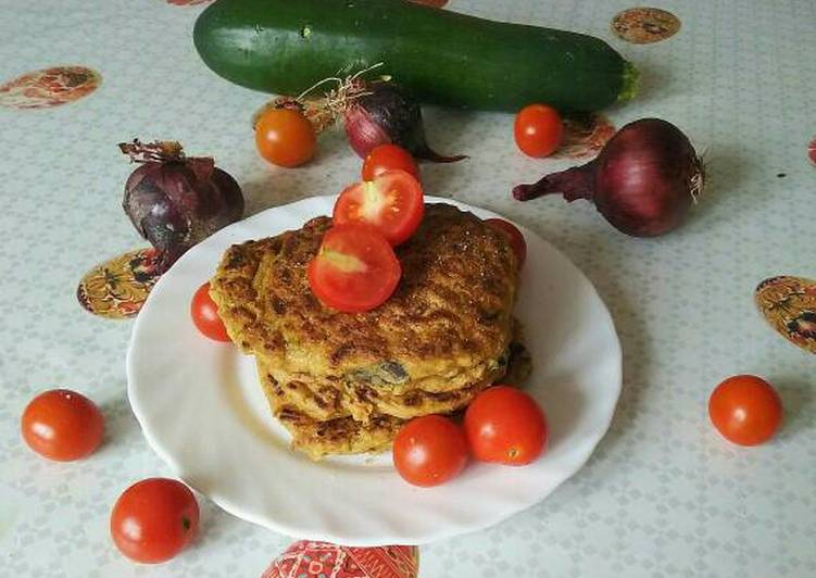 Recipe: Delicious Vegan corn cheese zucchini pancakes
