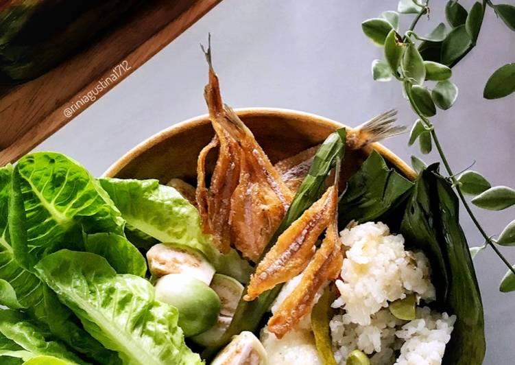 Nasi liwet bakar teri & pete - cookandrecipe.com