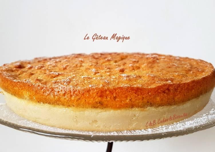 Recette Délicieux Le Gâteau Magique à la Vanille