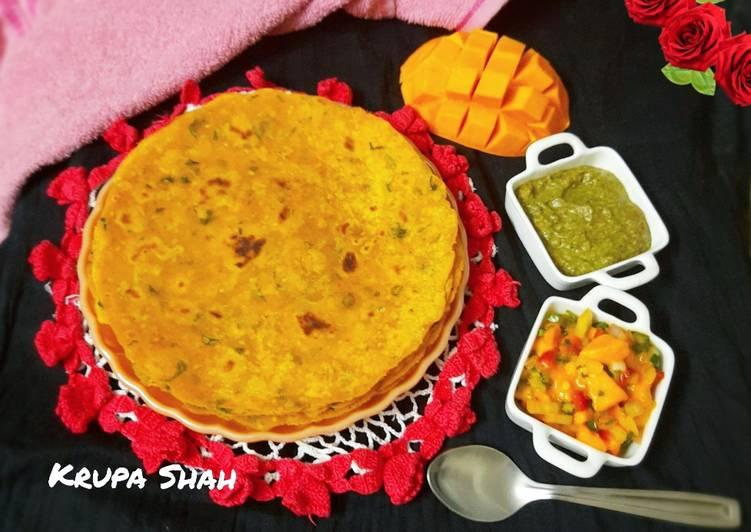 Steps to Make Super Quick Homemade Mango theplas with mango salsa