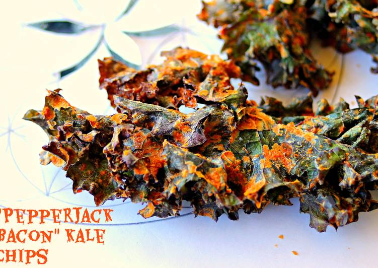 "Vegan Smoked ""Pepperjack-Bacon"" Kale Chips (Gluten free, Soy Free, Nut free, Raw, Vegan)"