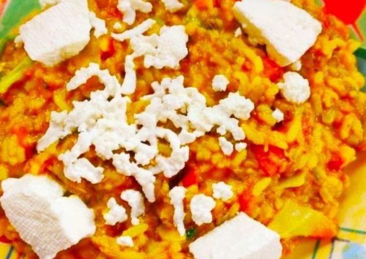 Best Comfort Dinner Ideas Vegan Veg paneer khichdi