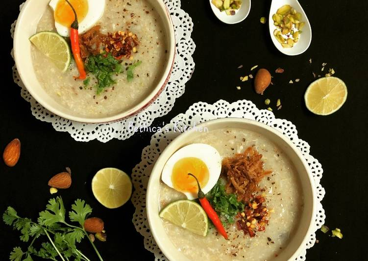 Brown Rice & Chicken Congee