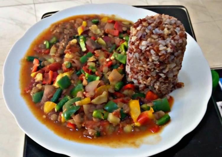 Kidney beans stir fry veggies