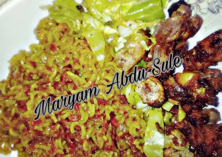 Simple Way to Prepare Perfect Indomie with liver and gizzards
