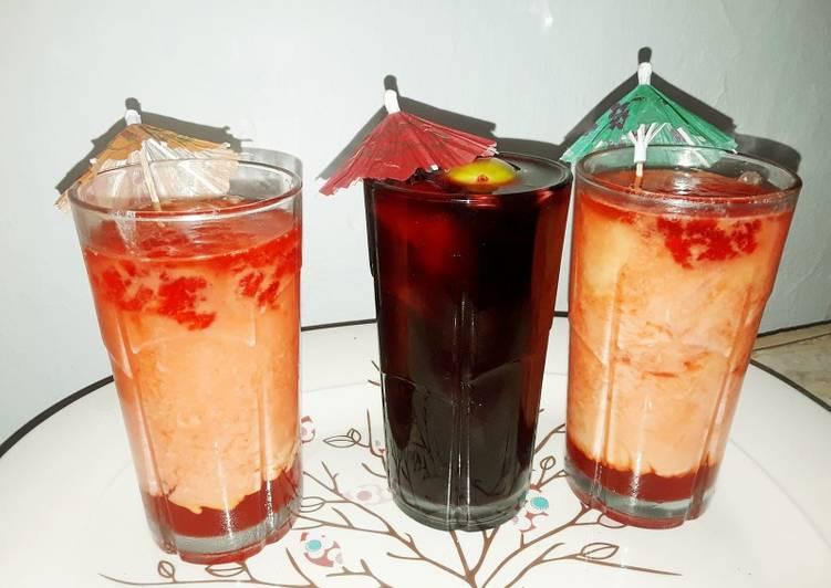 Step-by-Step Guide to Prepare Ultimate Hibiscus drink and custard friut with jelly drinks