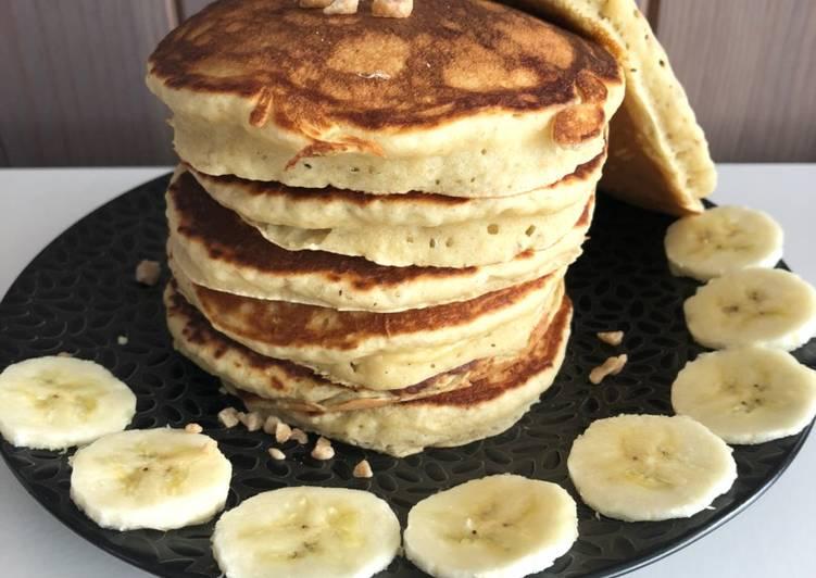 Recette Délicieuse Pancakes ultra moelleux sans lait ni beurre