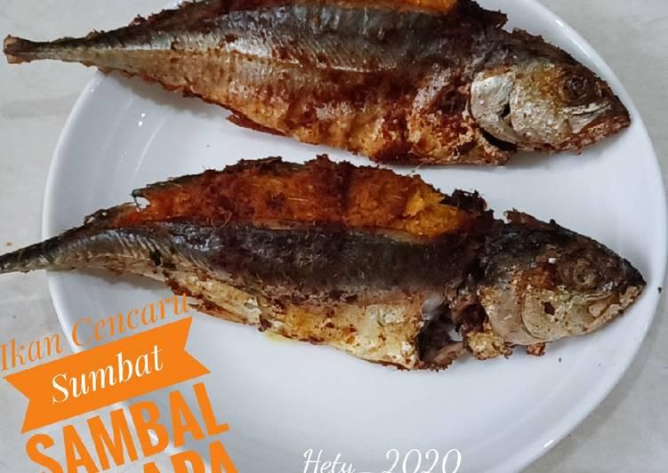 Ikan Cencaru Sumbat Sambal Kelapa (Fried Fish Stuffed with samba
