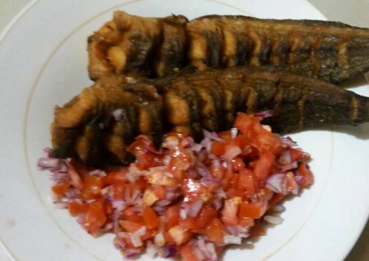 Recipe of Favorite Fried Mudfish with Kachumbari