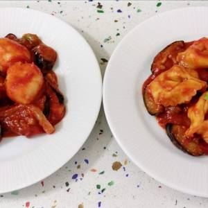 Gnocchis y tortellinis con pisto, especial veganos y vegetarianos