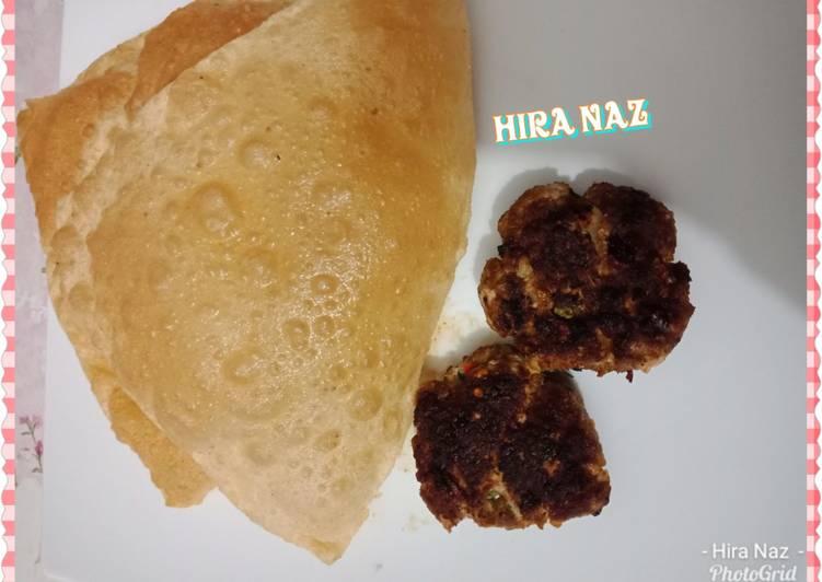 Learn How to Boost Your Mood with Food #Spicy_Kabab_With_Puri #KokabAndCookpad #RamadanFiveWeeksChallenge #CookpadApp