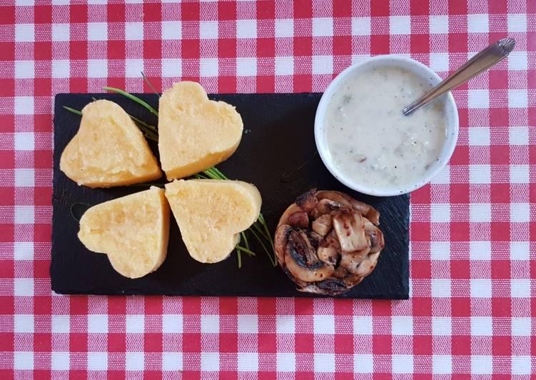 Easiest Way to Make Tasty Polenta della fortuna, mushrooms and gorgonzola
