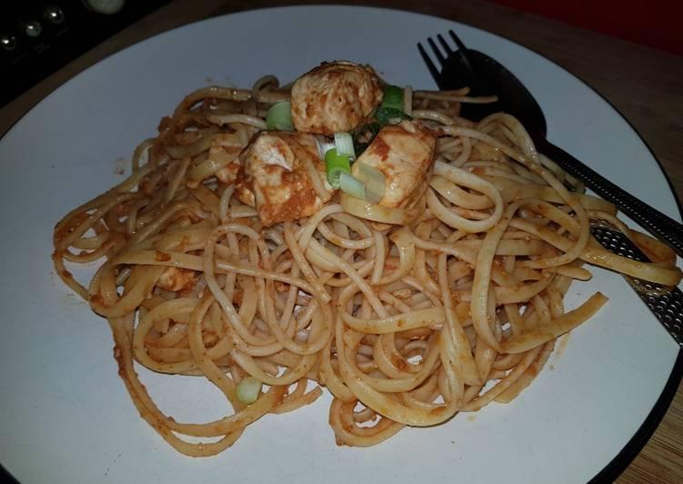 Recipe of Spaghetti chicken pesto Award-winning