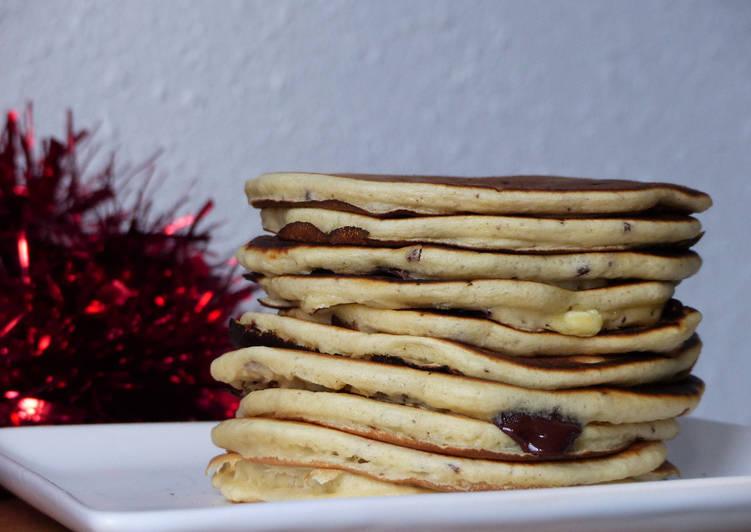Recette Parfait Pancakes aux pépites de chocolat