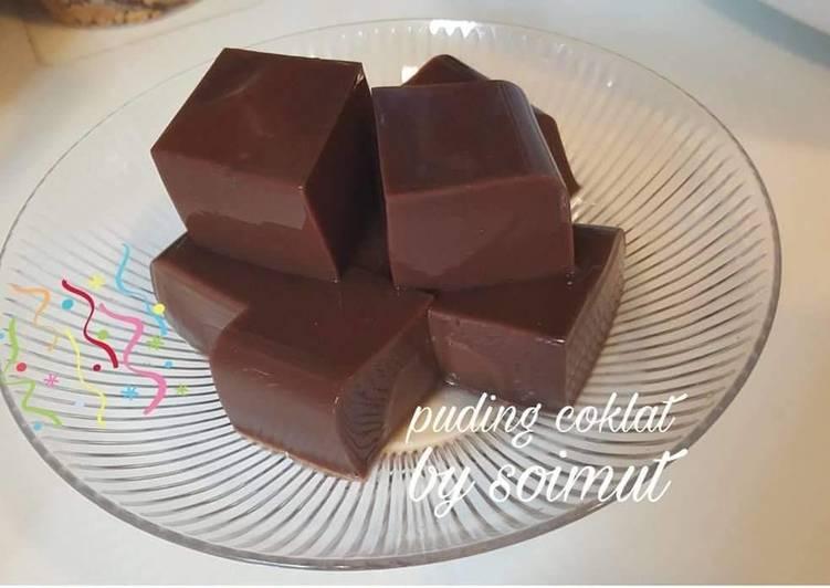 Puding coklat