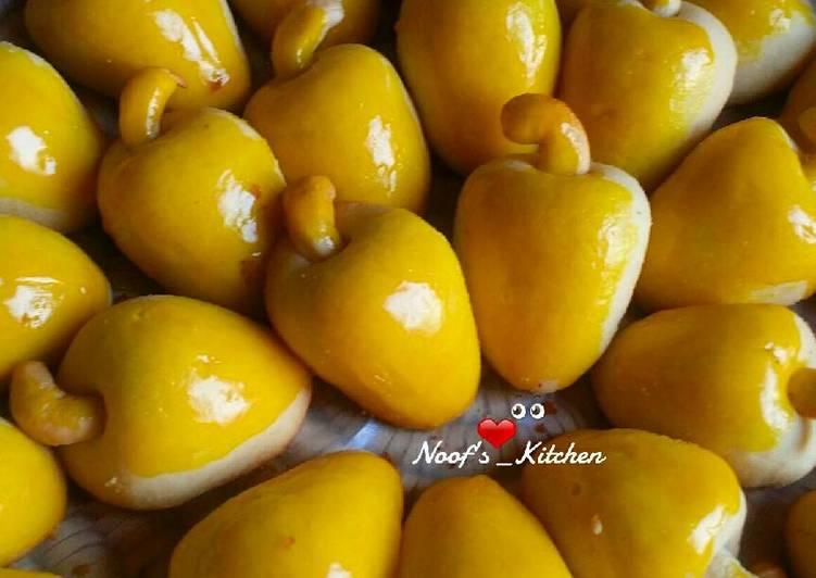 Nastar Kinclong bentuk jambu mede - cookandrecipe.com