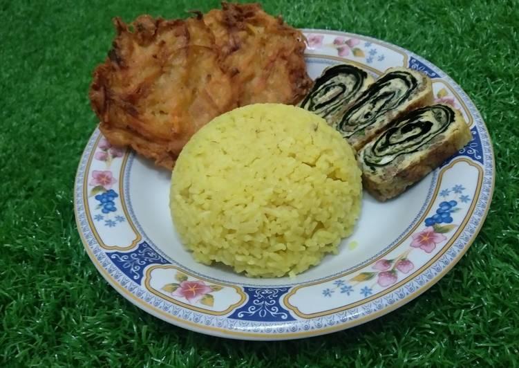 Nasi Kuning Rice Cooker Fiber Creme