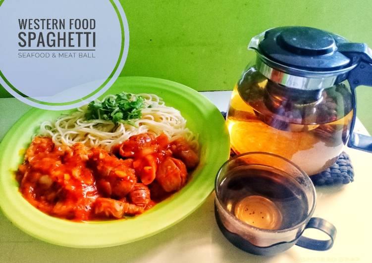 Spaghetti Seafood & Meat Ball