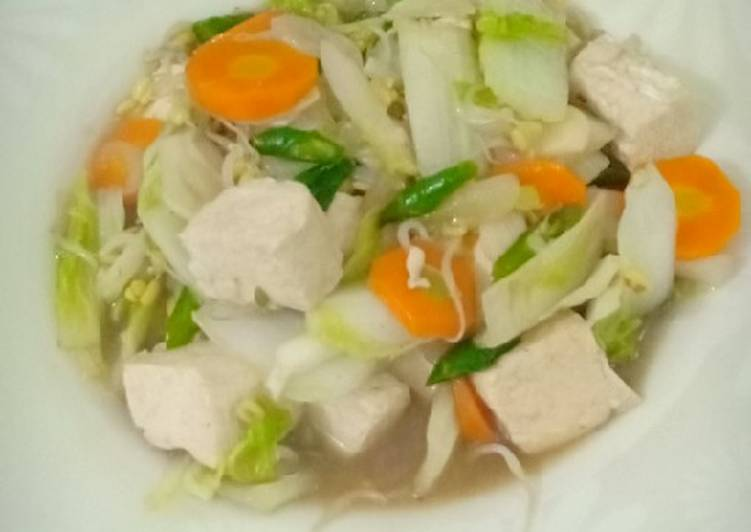 Sawi putih+tauge dan tahu saus tiram#5resepterbaruku