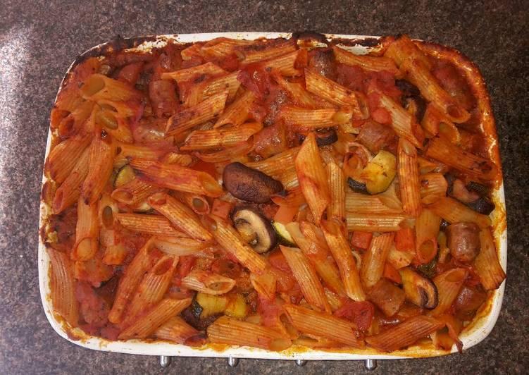 Sausage Pasta Bake - Gluten, Wheat & Dairy free