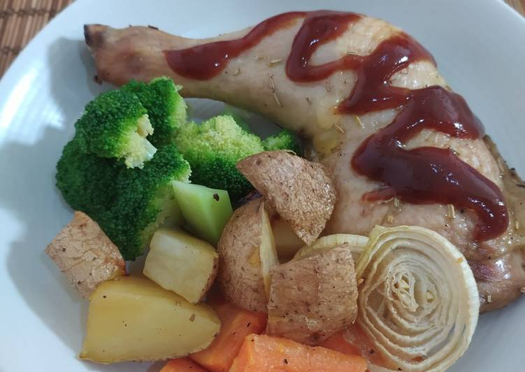 Rosemary Roasted Chicken - cookandrecipe.com