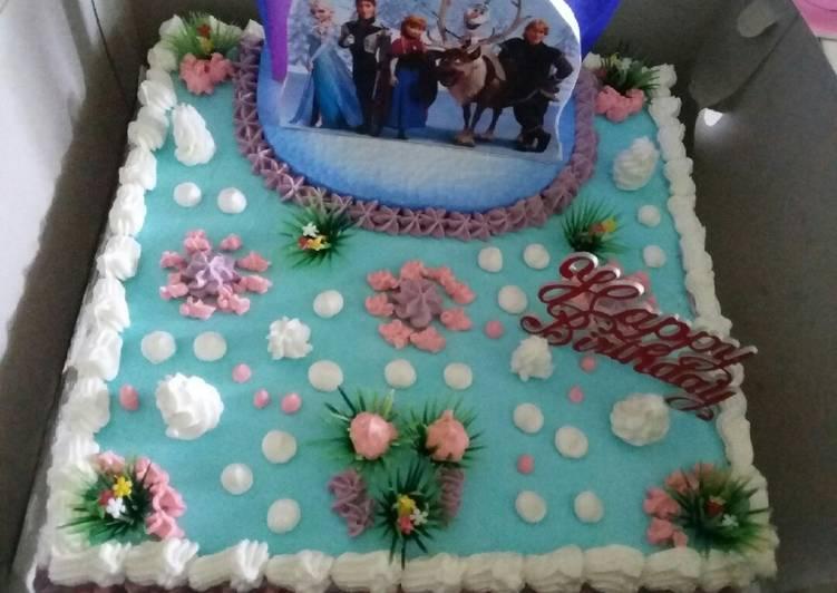 Resep Kue Ulang Tahun Frozen Oleh Dapur Antika Cookpad