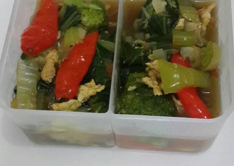 orak arik brokoli sawi putih dan pokcoy