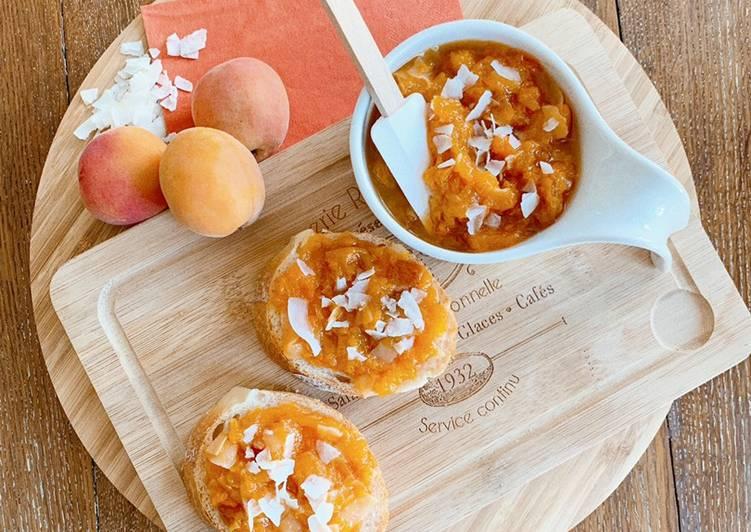 Façon la plus simple Cuisiner Savoureux Compotée aux abricots, vanille et noix de coco