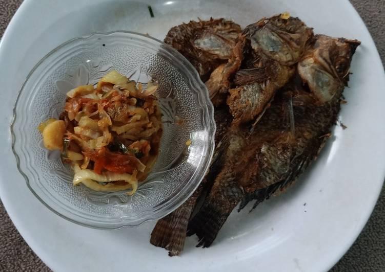 Cara mudah membuat Ikan garing sambal bombay ala keto